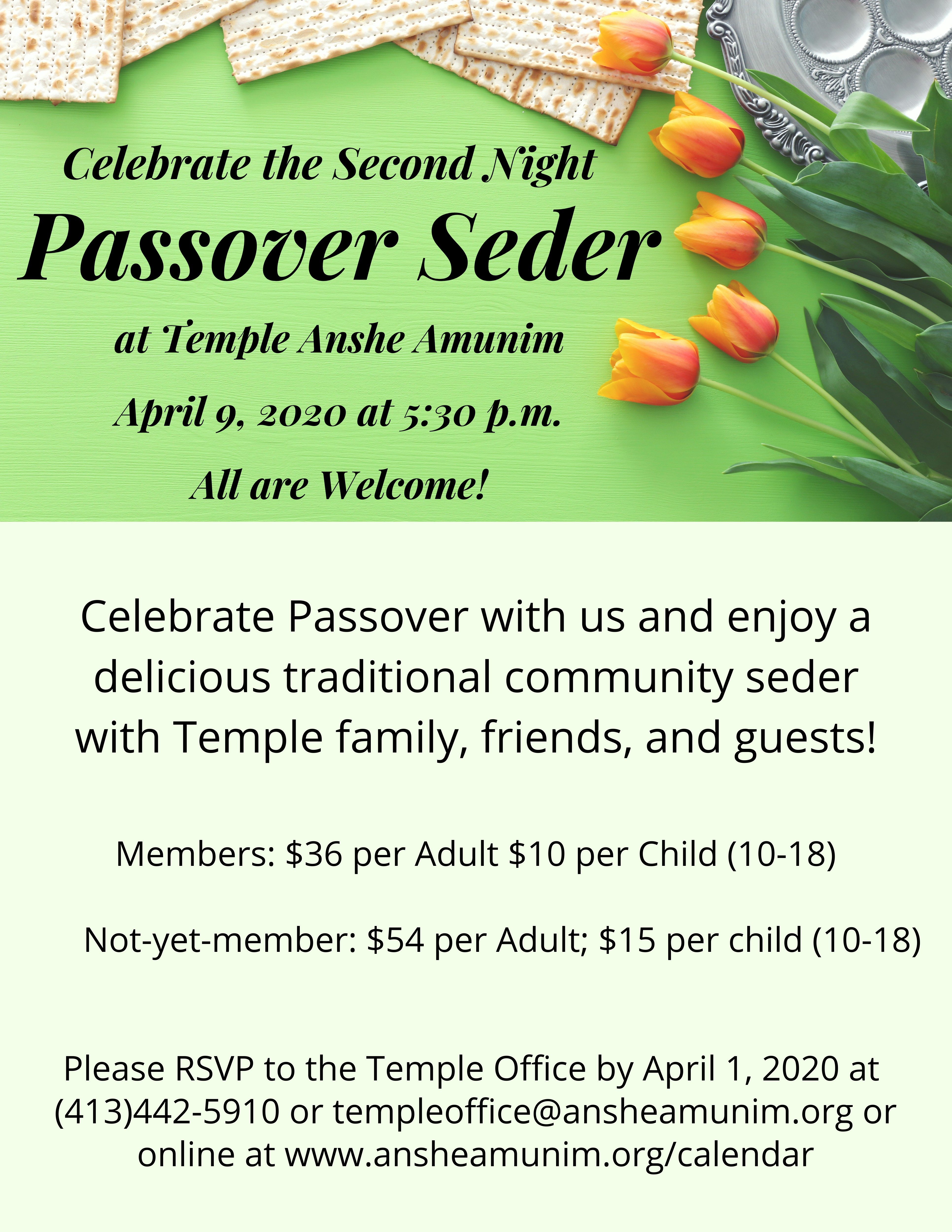 Banner Image for Passover Second Night Seder
