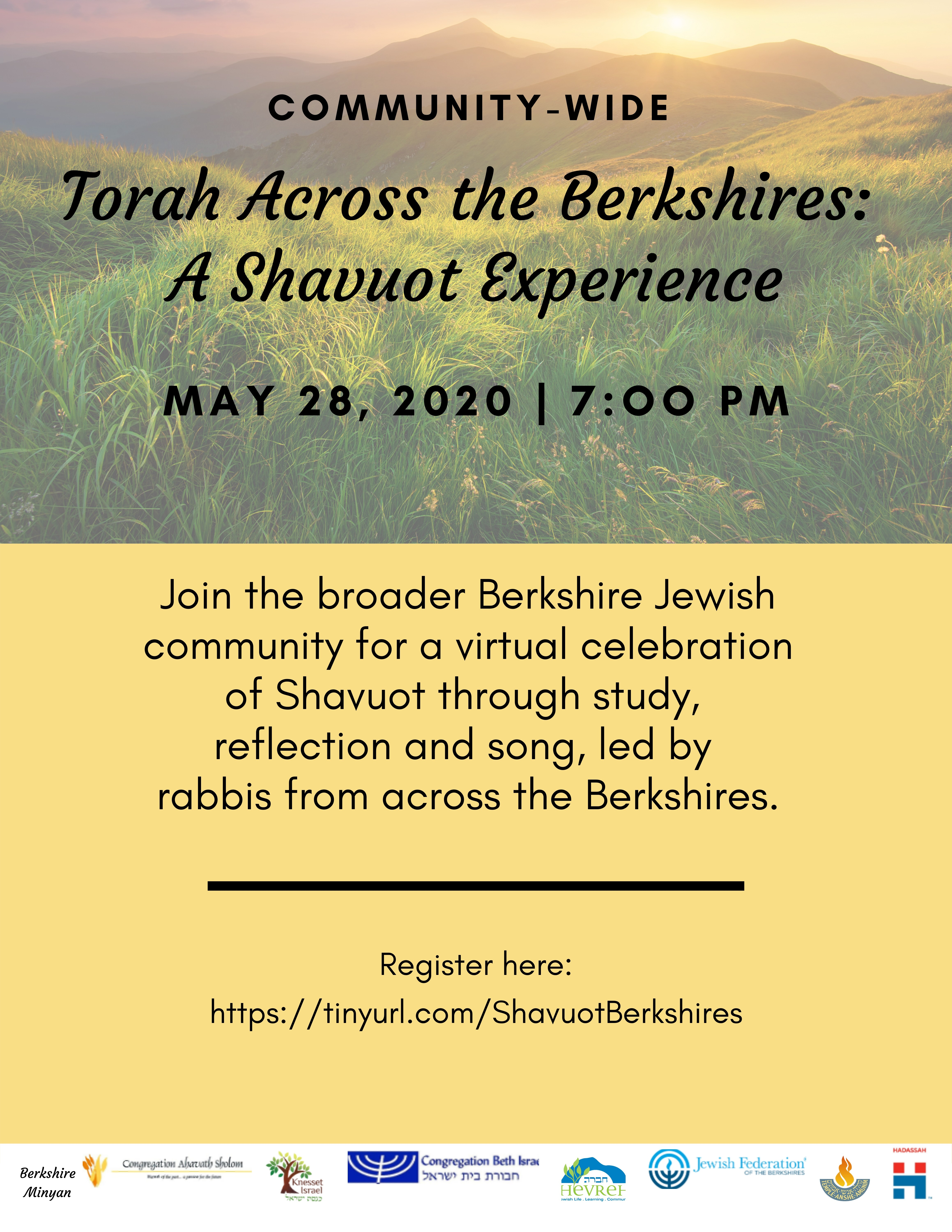 Banner Image for Torah Across the Berkshires: A Shavuot Experience