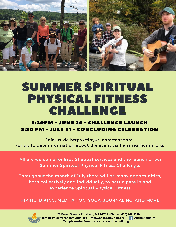 Banner Image for Virtual Erev Shabbat Services and SPF July Challenge Concluding Celebration