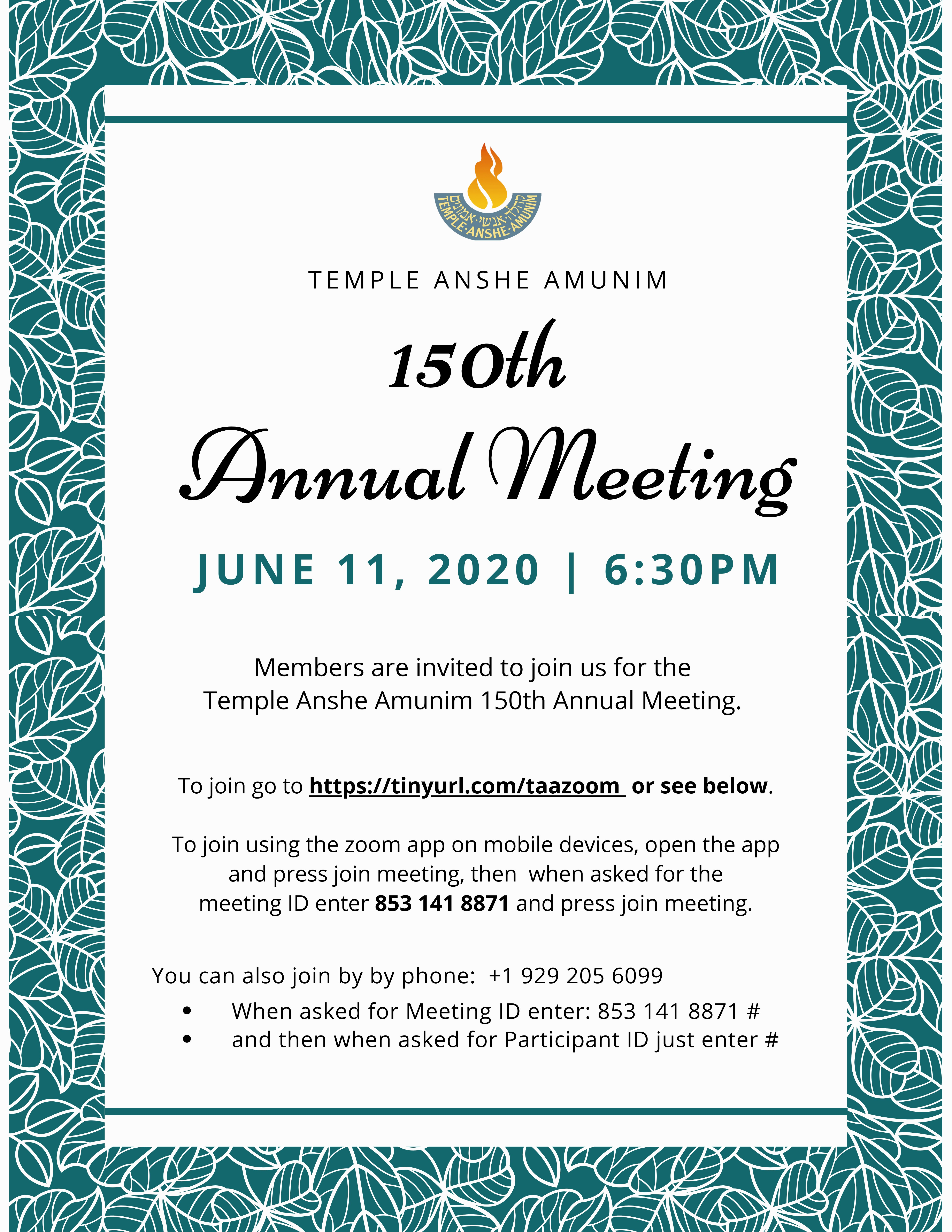 Banner Image for TAA 150th Annual Meeting