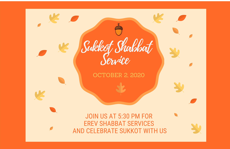 Banner Image for Erev Shabbat Services and Sukkot Celebration