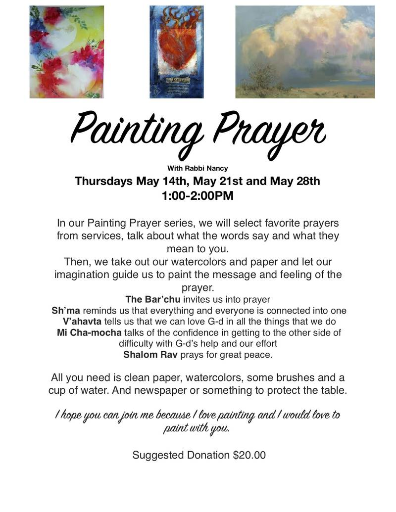 Banner Image for Painting Prayer with Rabbi Nancy