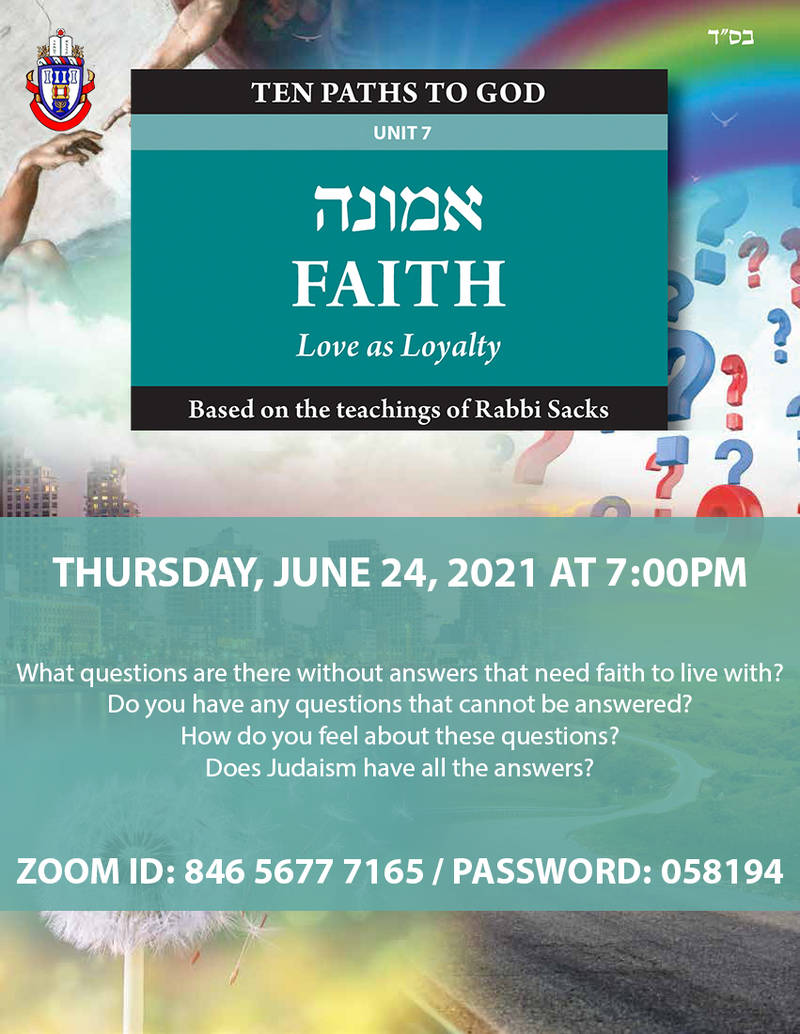 Banner Image for Ten Paths to God - Unit 7: FAITH: Love as Loyalty with Sandra Koukou & Guest Panelist Rabbi Sharon Shalom
