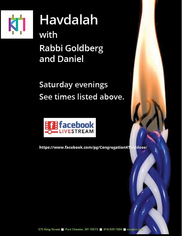 Banner Image for Havdalah on FB Live