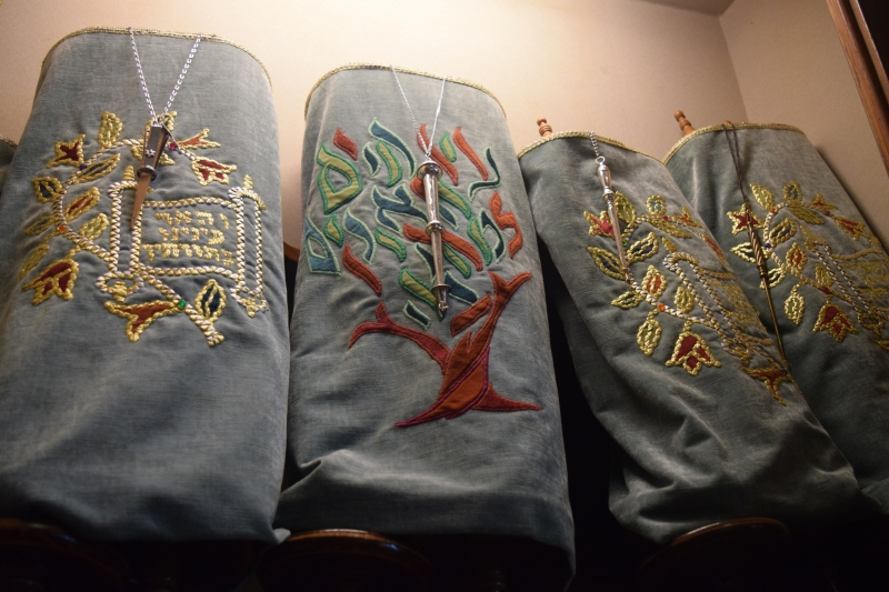 Three Torah Scrolls from our Daily Prayer Room