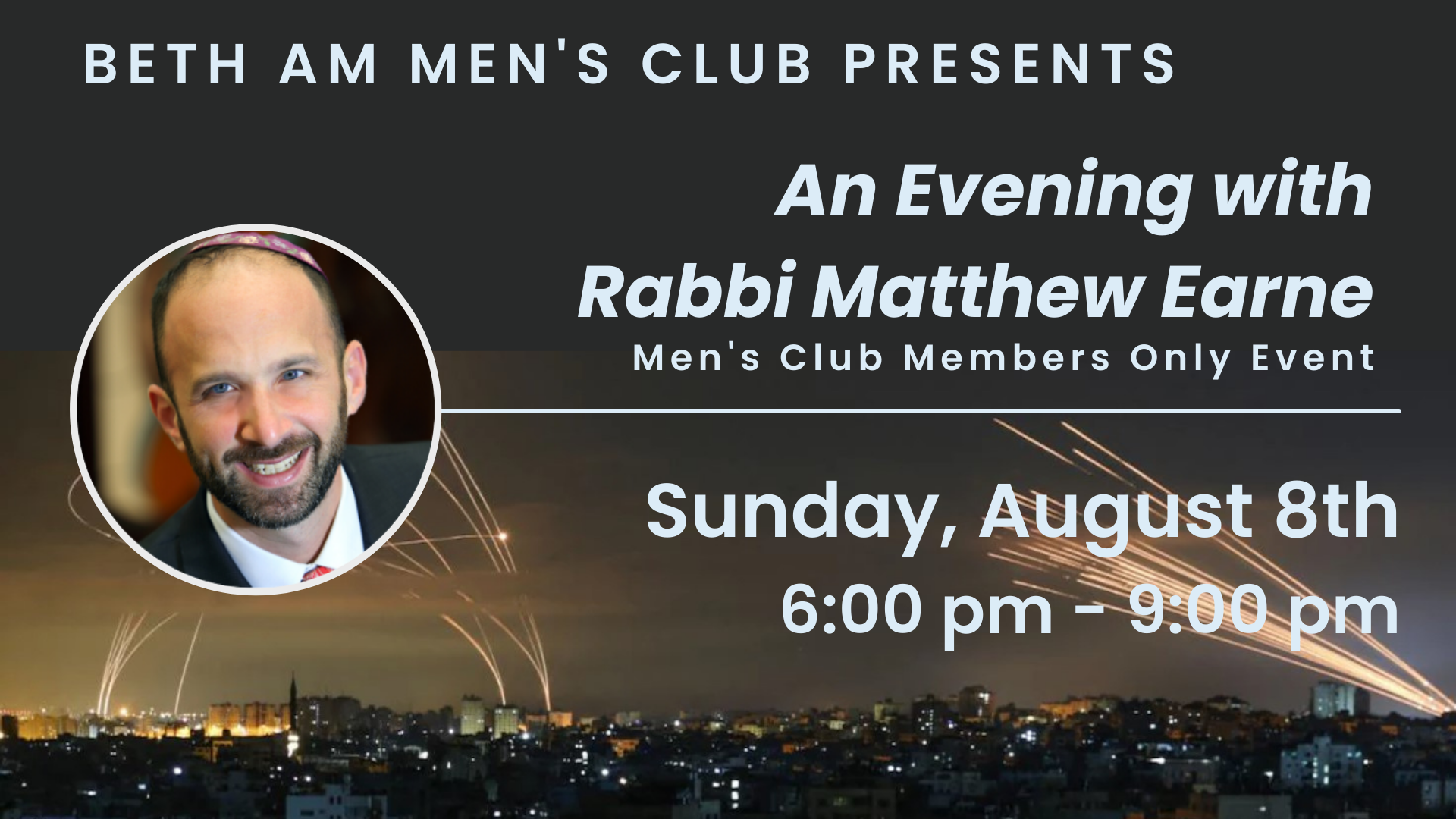 Banner Image for Men's Club: An Evening With Rabbi Earne