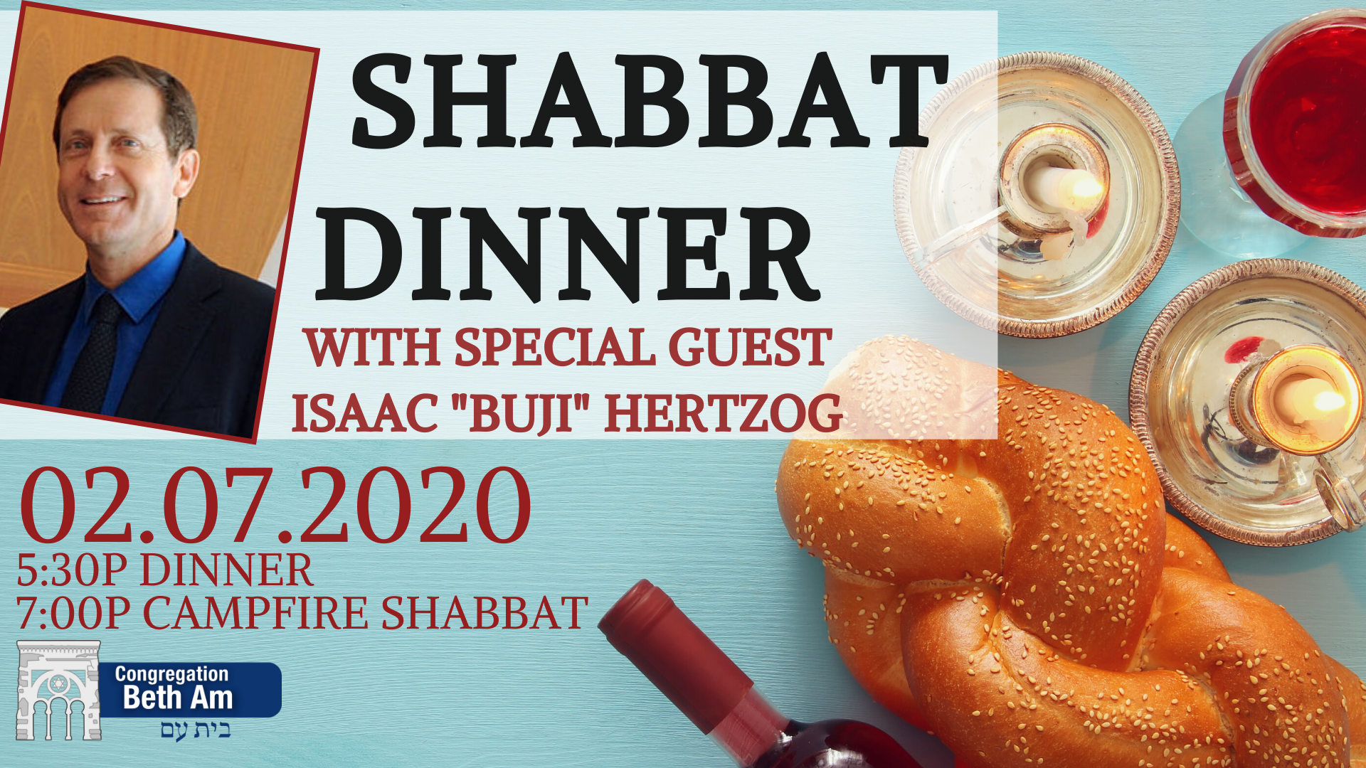 Banner Image for Shabbat Dinner with Isaac