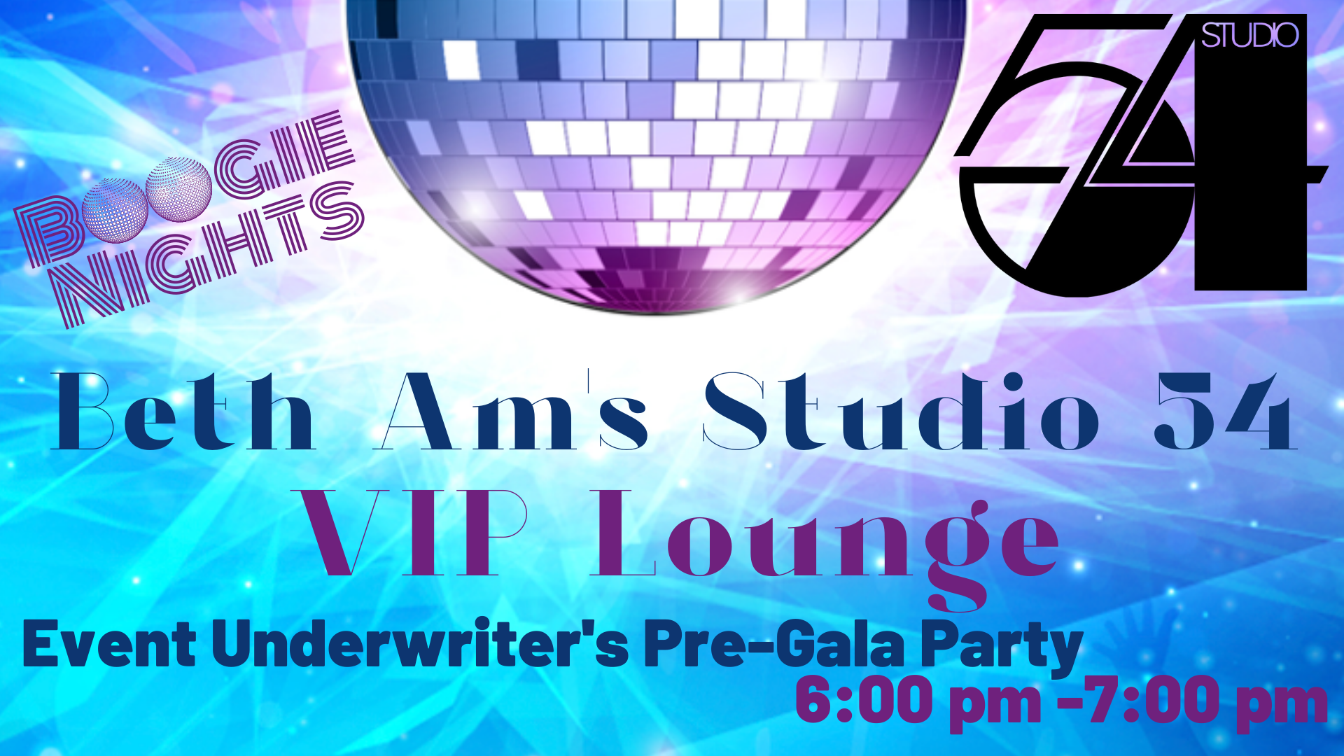Banner Image for Beth Am Studio 54 - VIP Lounge