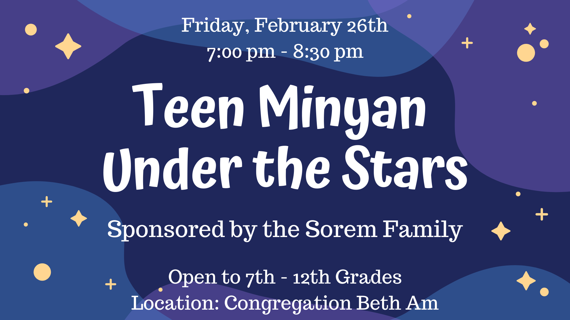 Banner Image for USY - Teen Minyan