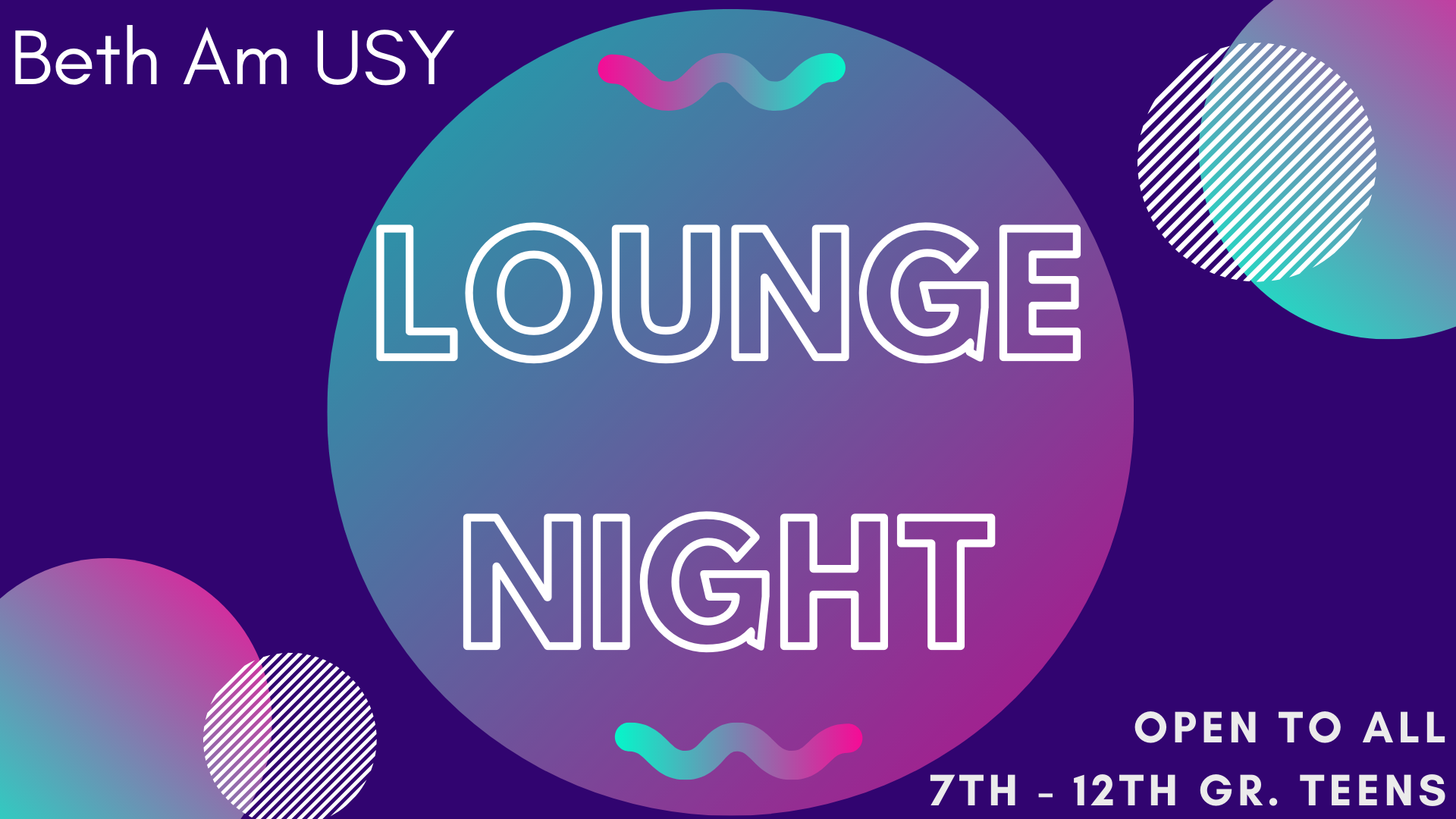 Banner Image for USY Lounge Night