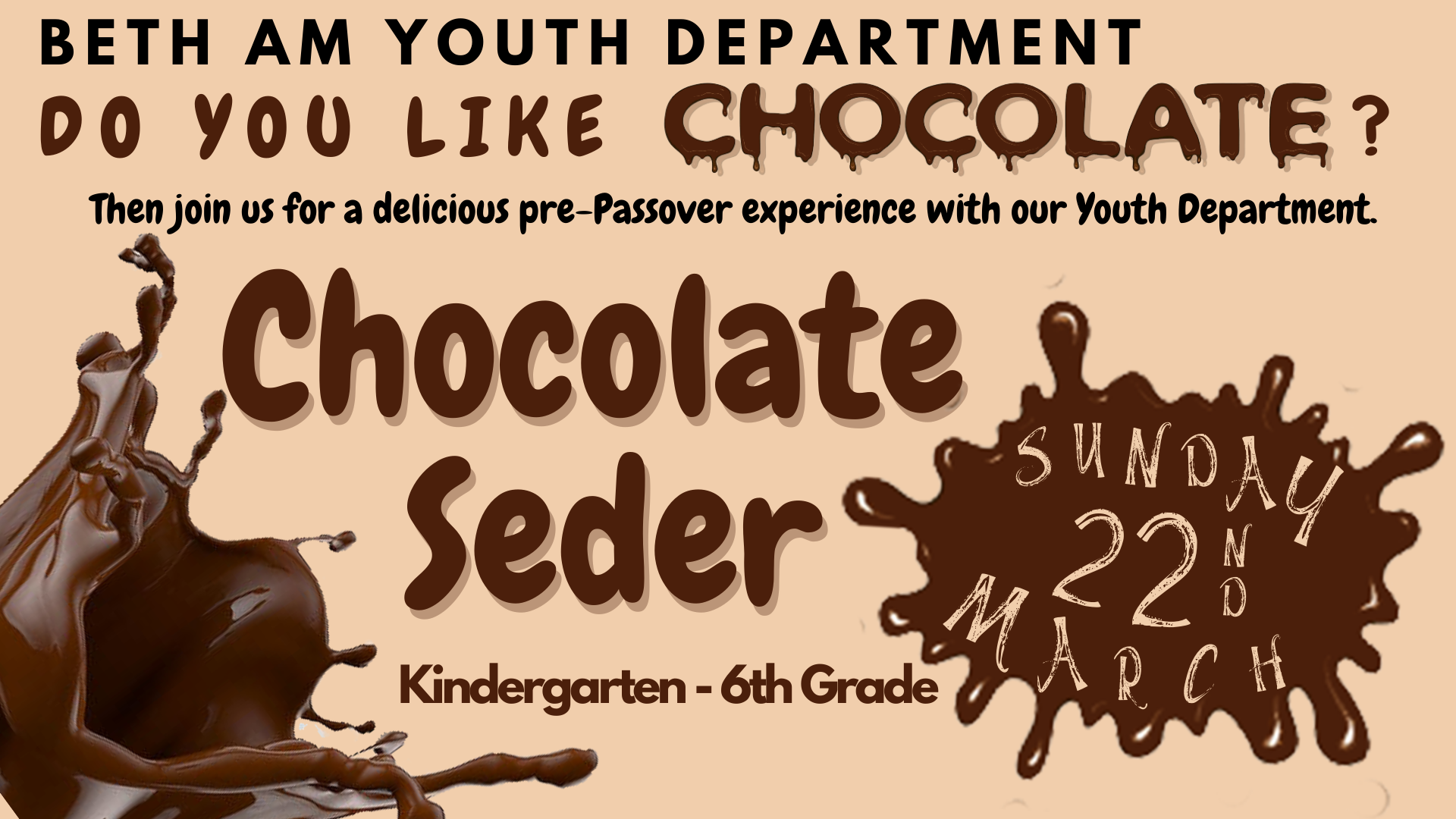 Banner Image for Cancelled Chocolate Passover Seder