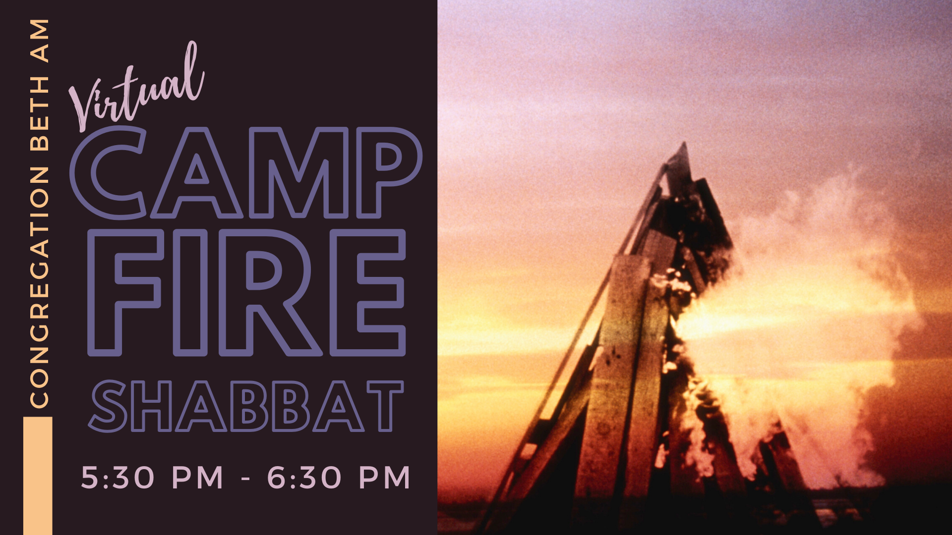 Banner Image for Campfire Shabbat (virtual)