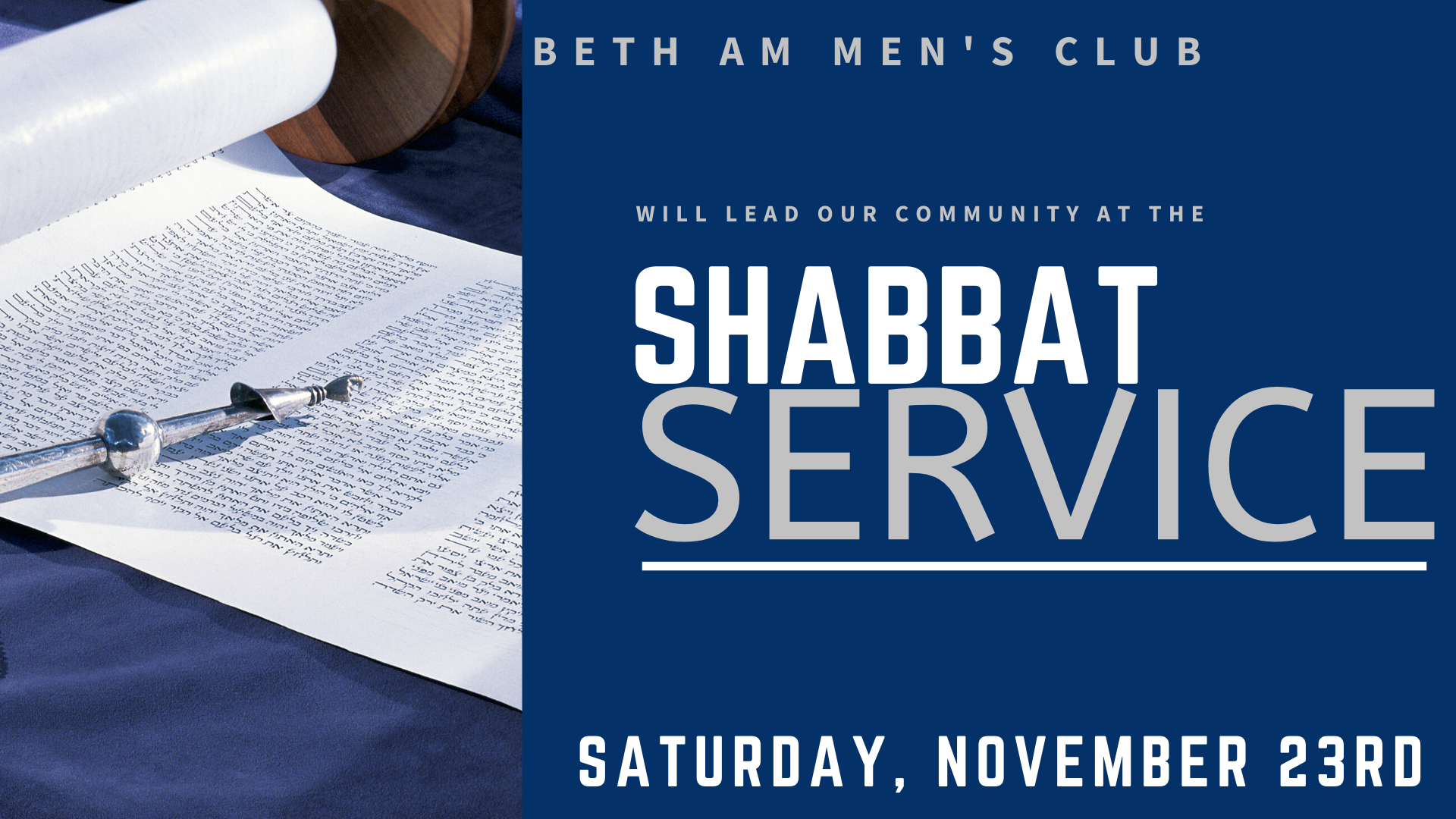 Banner Image for Shabbat Morning Service with the Beth Am Men's Club