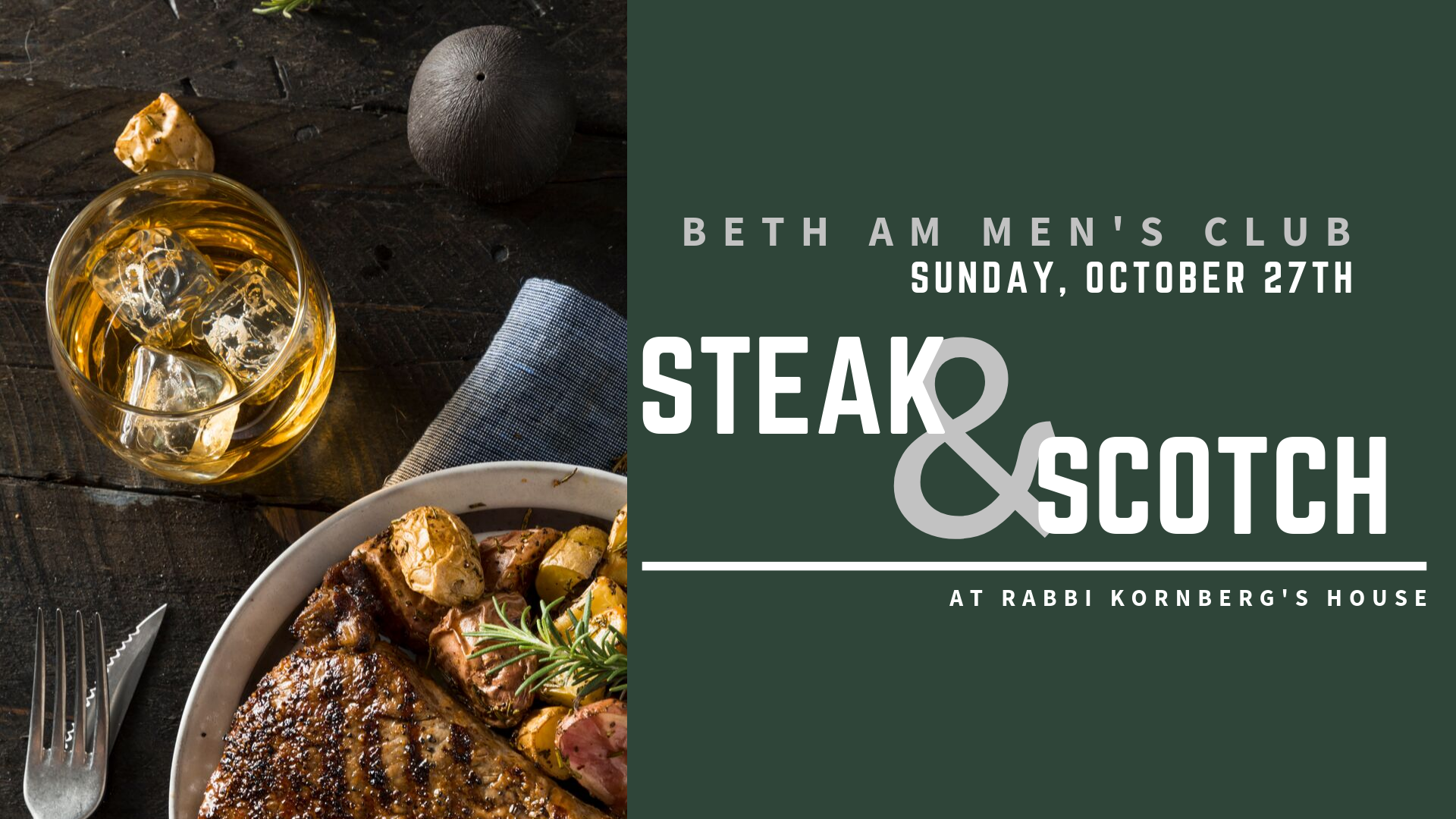 Banner Image for Men's Club: Steak & Scotch