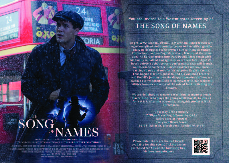 Banner Image for Film Screening: The Song of Names + Q&As