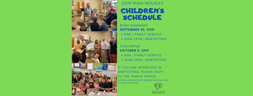 """<a href=""""mailto: office@congregationrodefsholom.org""""                                     target="""""""">                                                                 <span class=""""slider_title"""">                                     High Holiday Children's Schedule                                </span>                                                                 </a>                                                                                                                                                                                       <span class=""""slider_description"""">Join Congregation Rodef Sholom for the 2019 High Holidays! RSVP if you are in need of babysitting by emailing or calling the Temple office.</span>                                                                                     <a href=""""mailto: office@congregationrodefsholom.org"""" class=""""slider_link""""                             target="""""""">                             Click here to RSVP!                            </a>"""