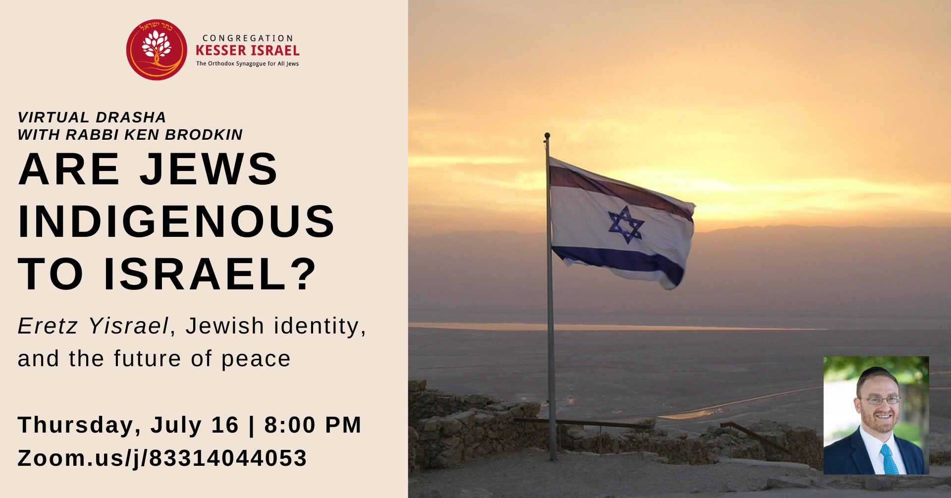 Are Jews Indigenous to Israel? - Event - Congregation ...