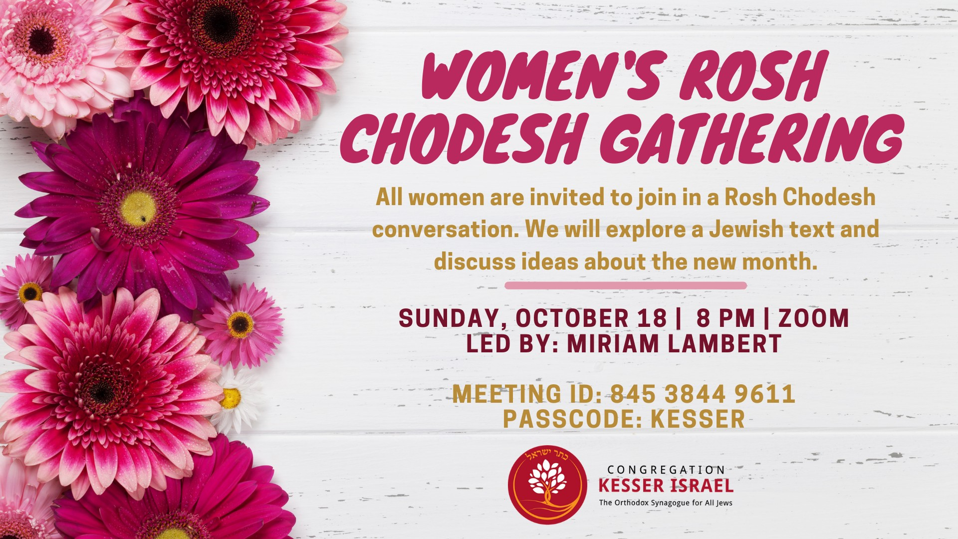 Banner Image for Women's Rosh Chodesh Gathering
