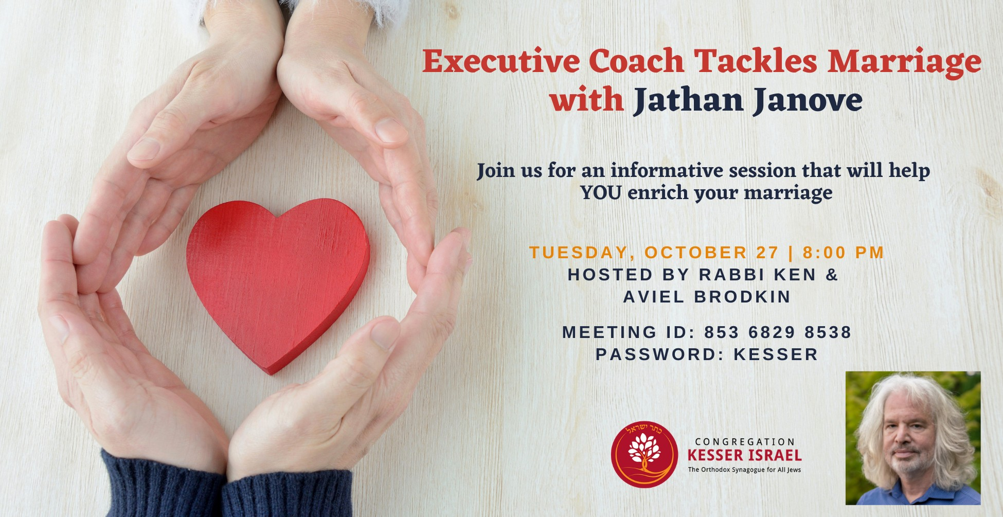 Banner Image for Executive Coach Tackles Marriage  withJathan Janove