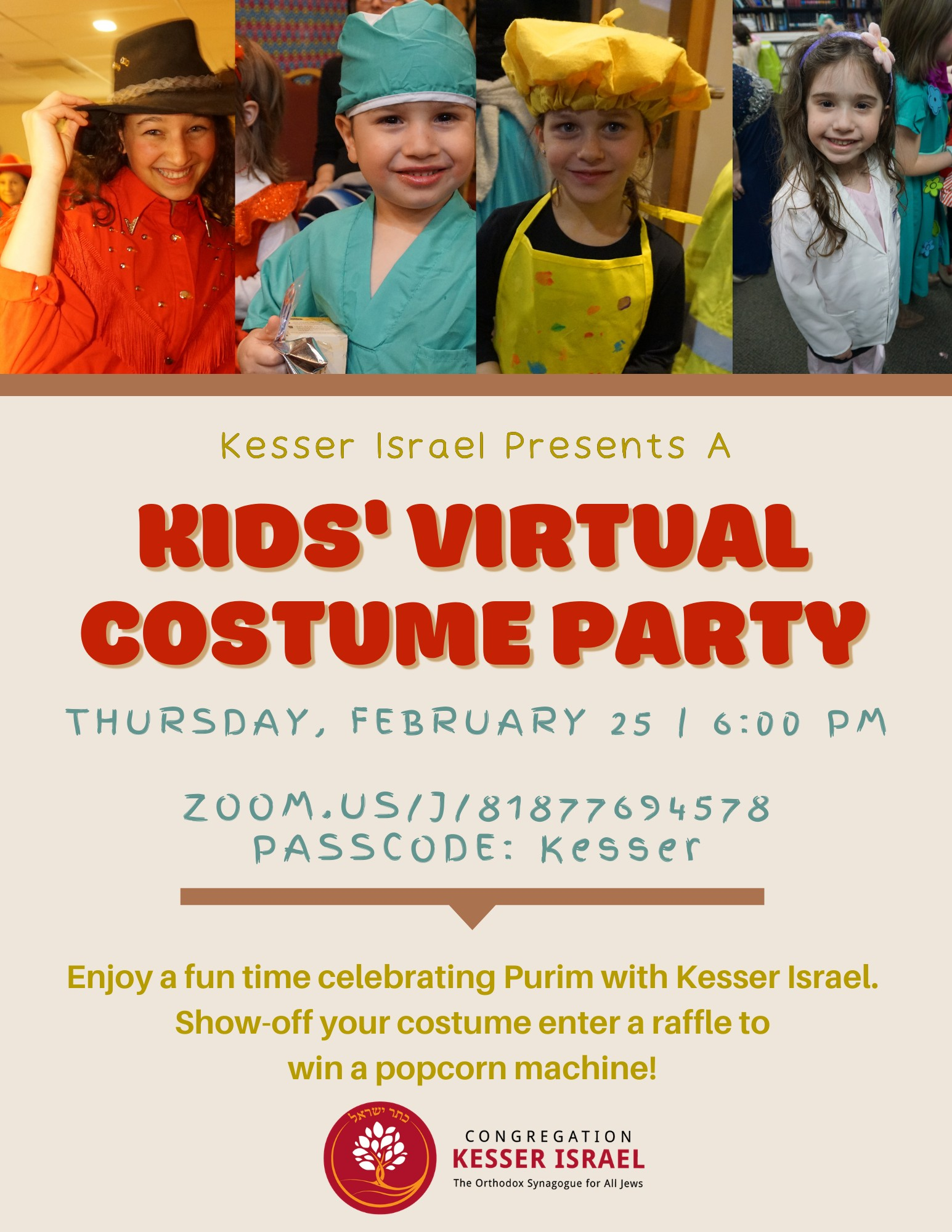 Banner Image for Kids' Virtual Costume Party