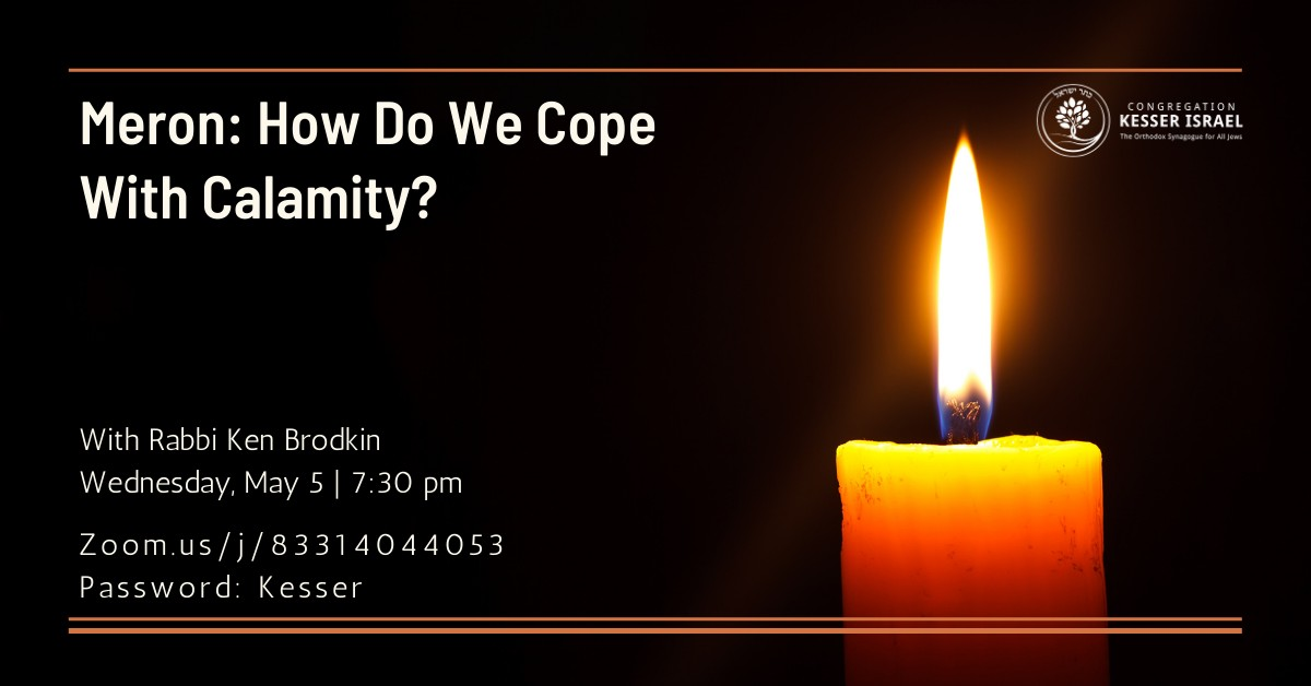 Banner Image for Meron: How Do We Cope With Calamity?
