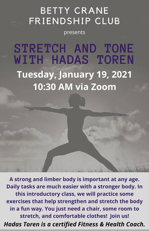 Banner Image for Stretch and Tone with Hadas Toren