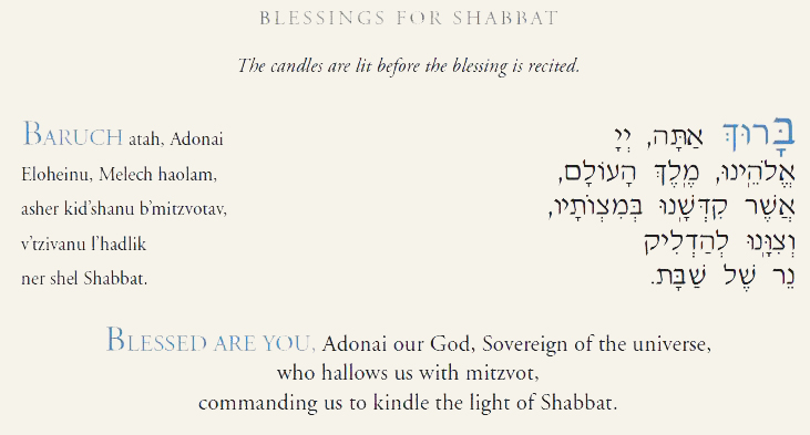 Shabbat Candle Blessing Temple Beth Am