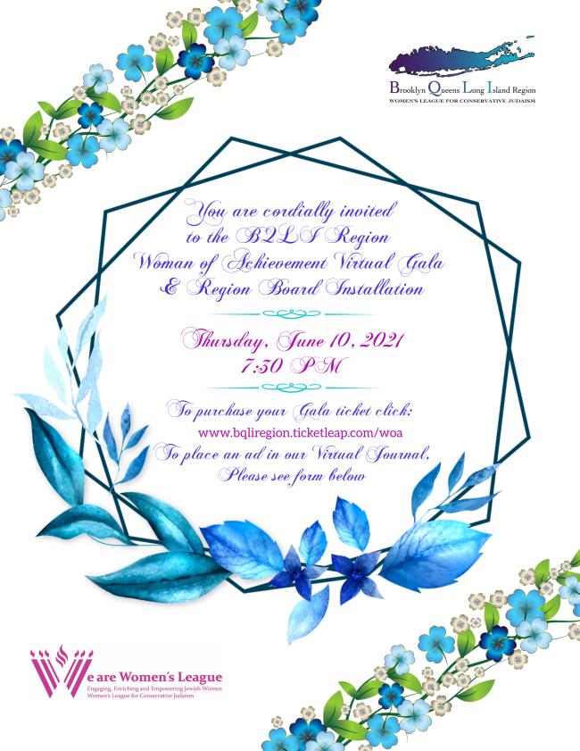 Banner Image for BQLI Region Women of Achievement Virtual Gala and Region Board Installation