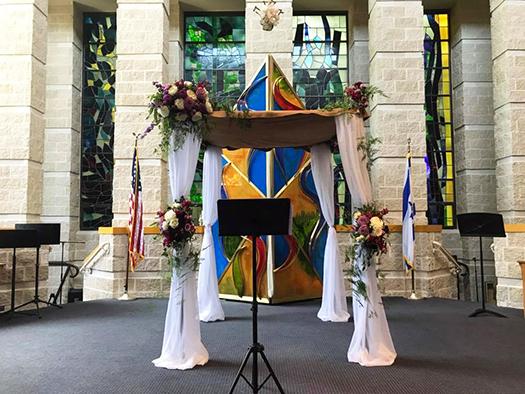 Temple Sholom Synagogue Greenwich Connecticut Wedding Chuppa