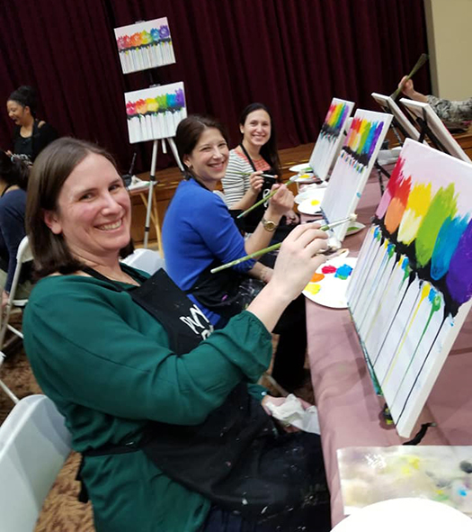 Temple Sholom Greenwich CT Women's Paint Night, Hosted by JEWEL