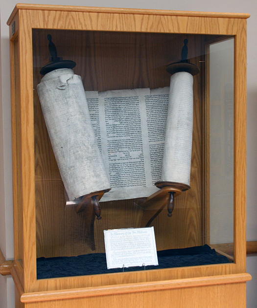 Temple Sholom Greenwich Holocaust Torah