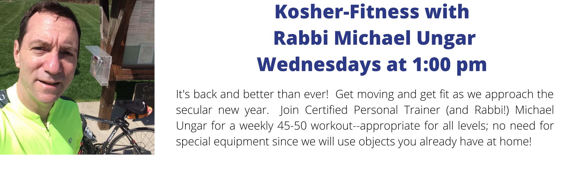 Banner Image for Kosher-Fitness with Rabbi Michael Ungar