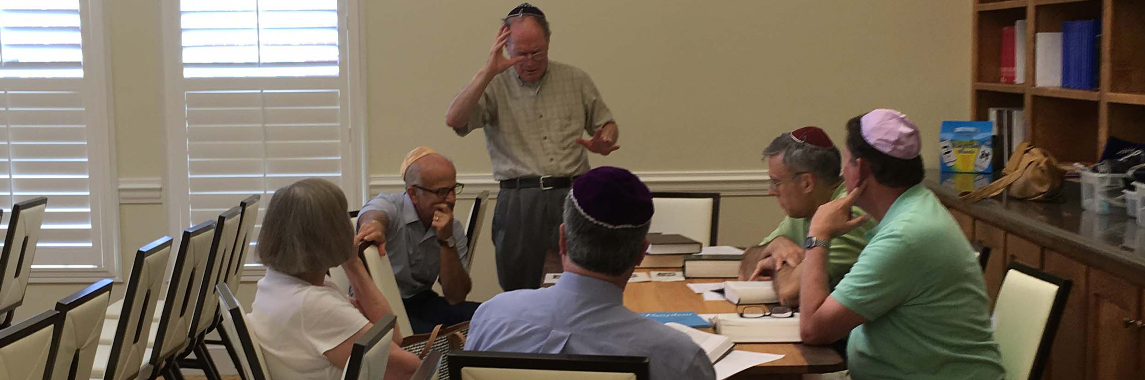 """<span class=""""slider_title"""">                                     Torah Study                                </span>                                                                                                                                                                                       <span class=""""slider_description"""">The synagogue hosts a weekly meeting to study the lessons of the Torah. It is open to the entire community.</span>"""