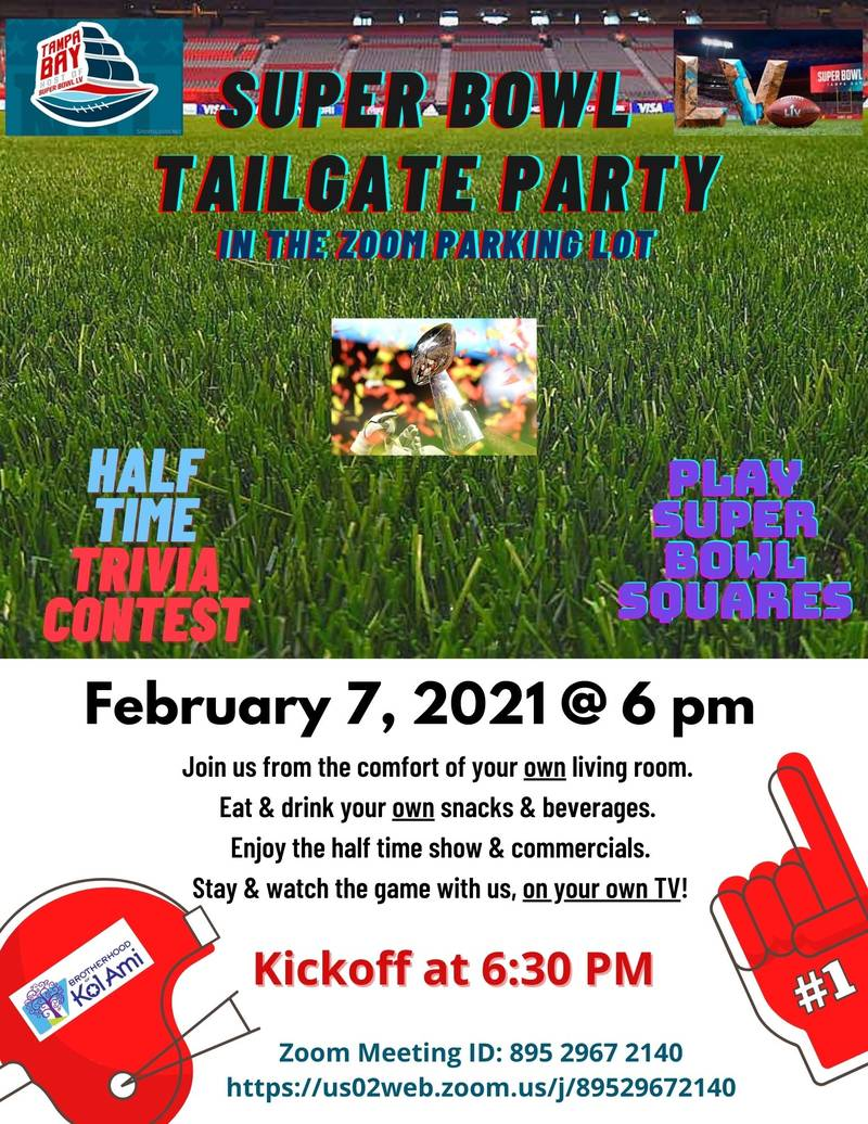 Banner Image for Brotherhood Super Bowl Tailgating Party Via Zoom: Click Here for Link
