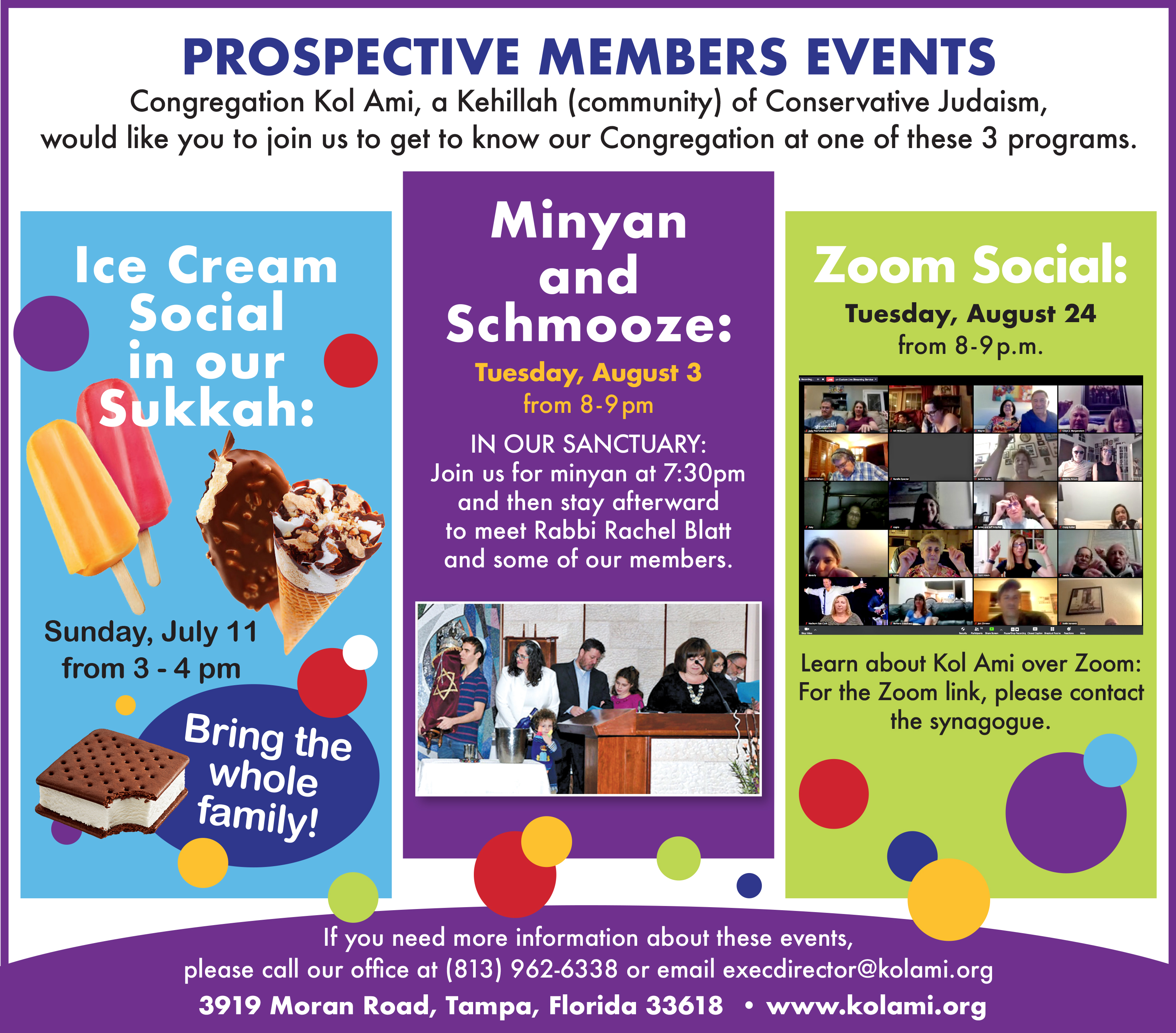 Banner Image for Prospective New Members' Social Event: Minyan and Schmooze