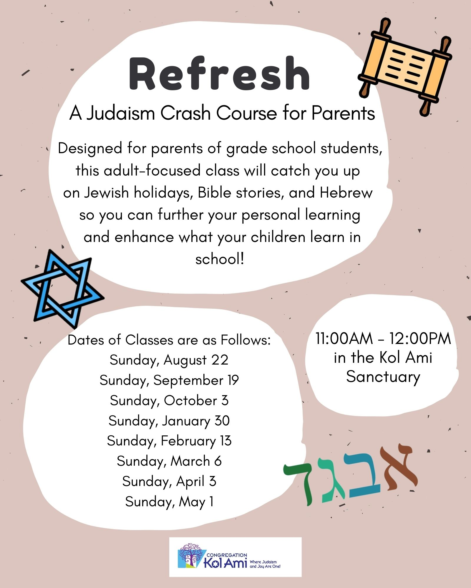 Banner Image for Refresh: A Judaism Crash Course for Parents