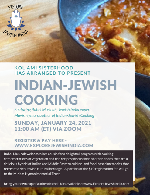 Banner Image for INDIAN - JEWISH COOKING on ZOOM: Click Here to get link to Register