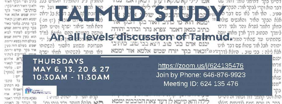 Banner Image for Virtual Talmud Study Class with Rabbi Blatt