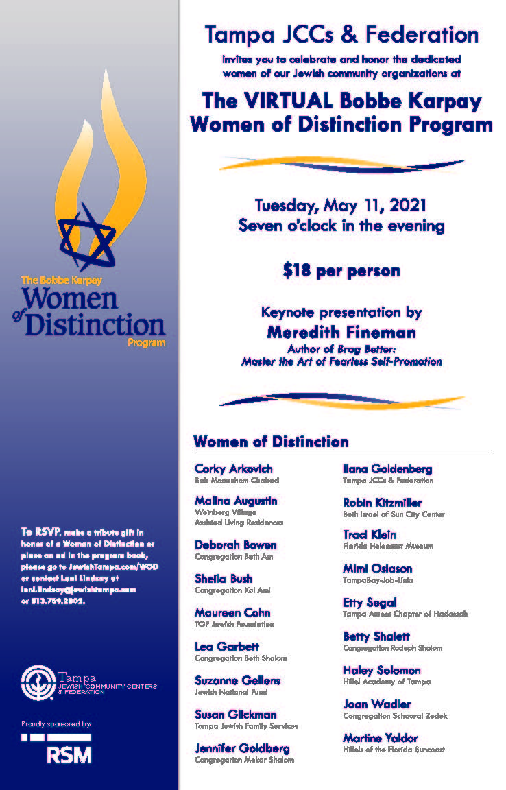 Banner Image for Virtual Women of Distinction Award Ceremony:Click Here for more Information