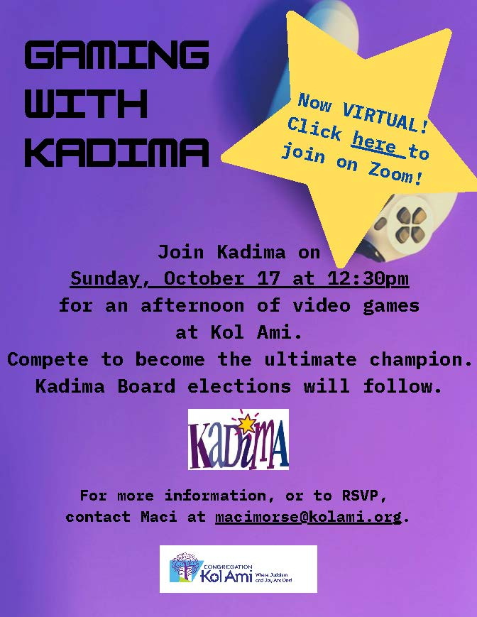 Banner Image for Gaming with Kadima on Zoom