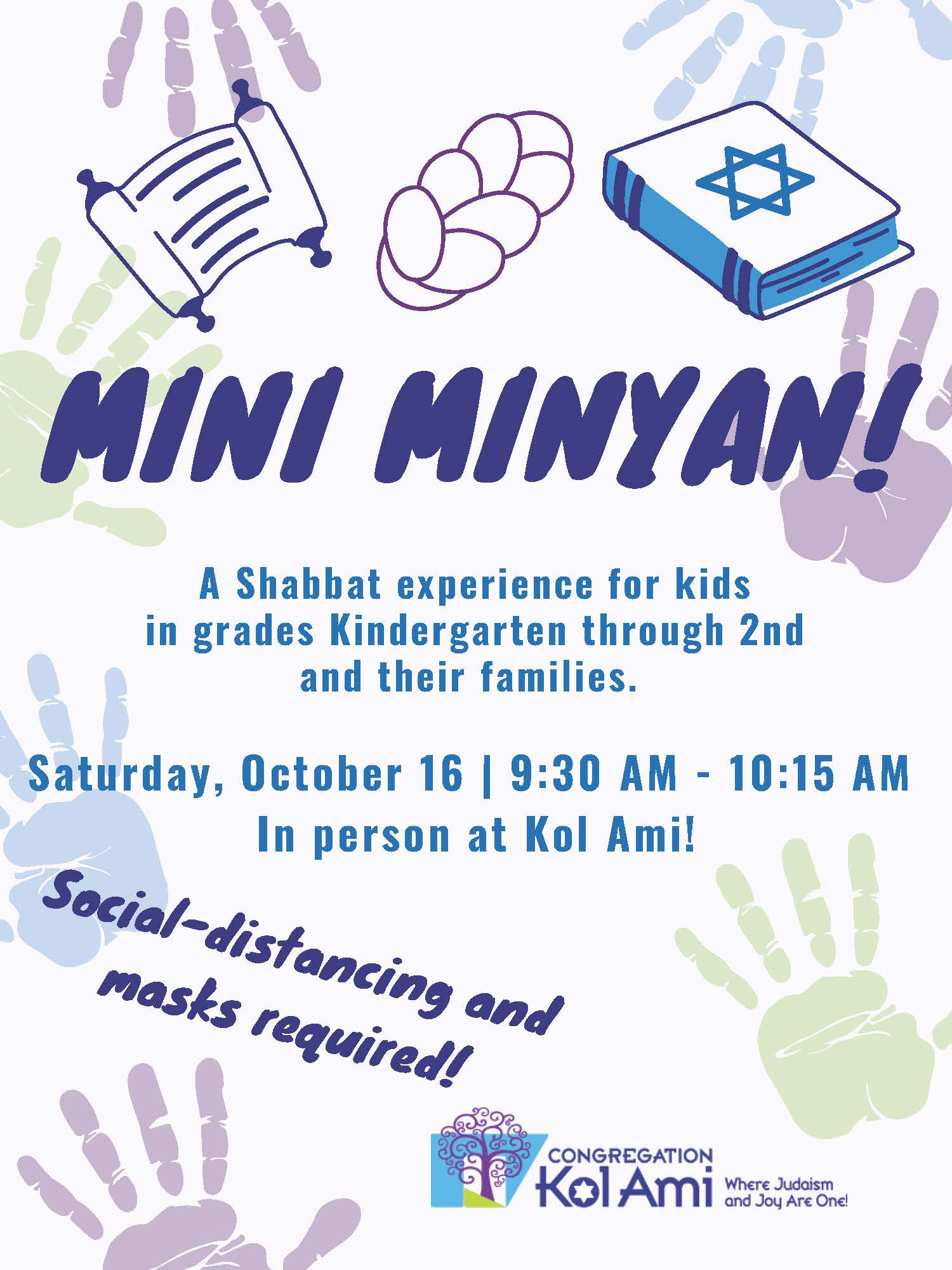 Banner Image for Mini-Minyan for Families with Children K-2nd Grade