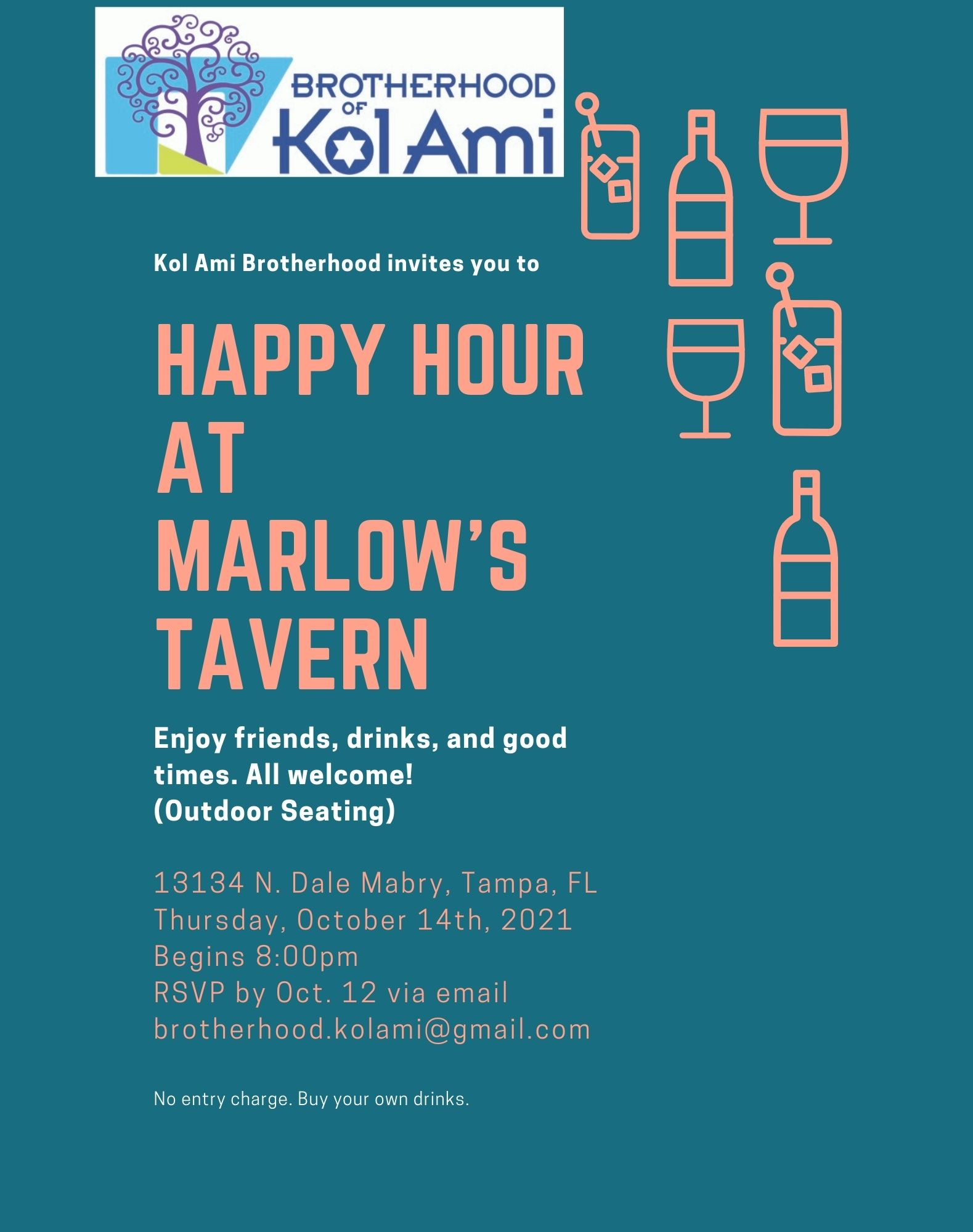 Banner Image for Brotherhood: Happy Hour at Marlow's Tavern