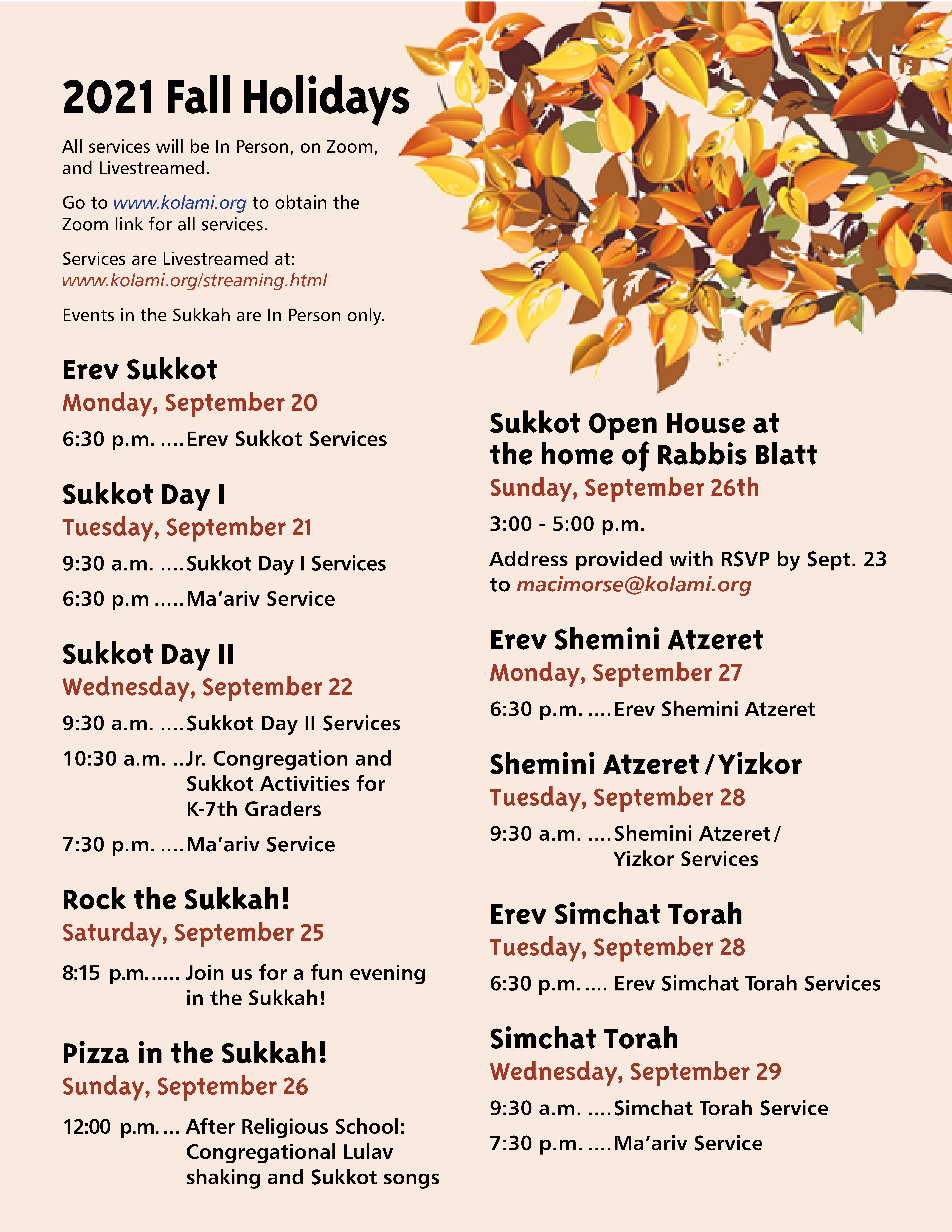 Banner Image for Simchat Torah Services : In Person & Virtual