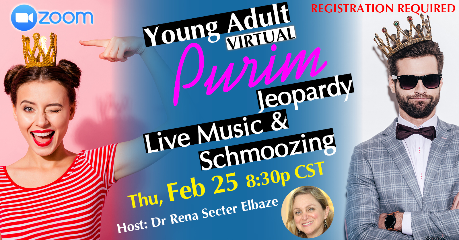Banner Image for Young Adult Virtual Purim