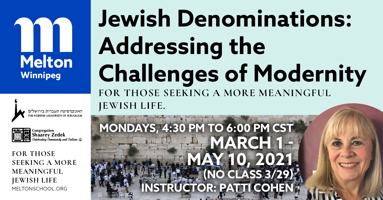 Banner Image for Melton -- Jewish Denominations Course: Addressing the Challenges of Modernity