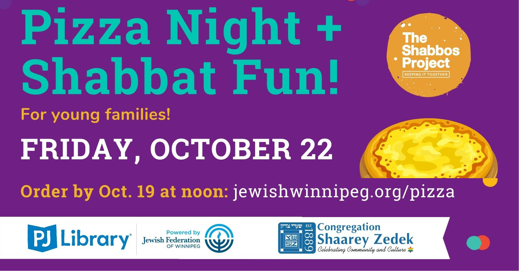 Banner Image for Pizza Night/Shabbat Fun for Young Families