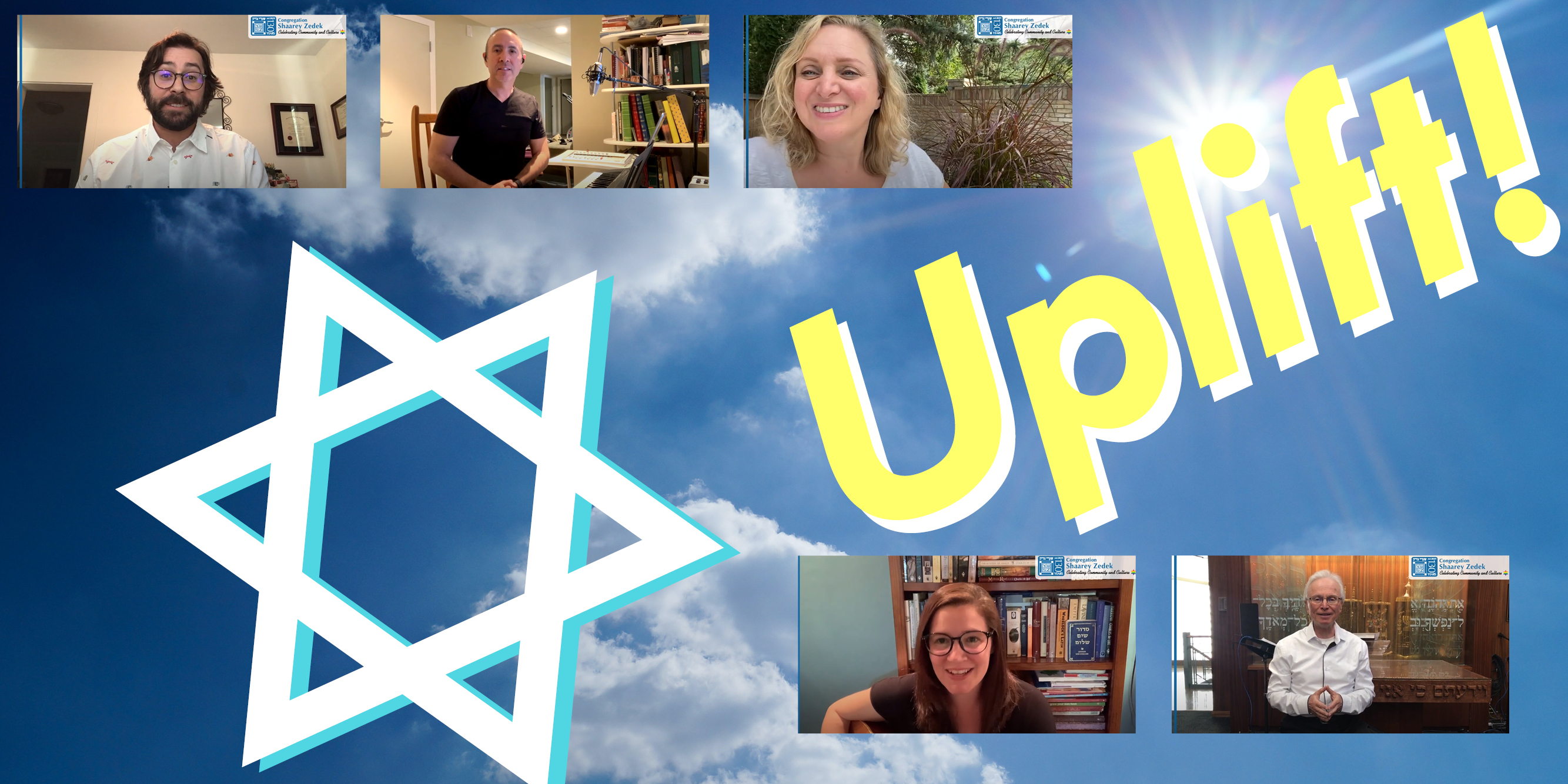 """<a href=""""/streaming/archived-videos""""                                     target="""""""">                                                                 <span class=""""slider_title"""">                                     Uplift!                                </span>                                                                 </a>                                                                                                                                                                                       <span class=""""slider_description"""">New videos published two-to-three times weekly by our Rabbis, Lay Clergy, and Staff! Enjoy archived videos anytime.</span>                                                                                     <a href=""""/streaming/archived-videos"""" class=""""slider_link""""                             target="""""""">                             Watch Now!                            </a>"""