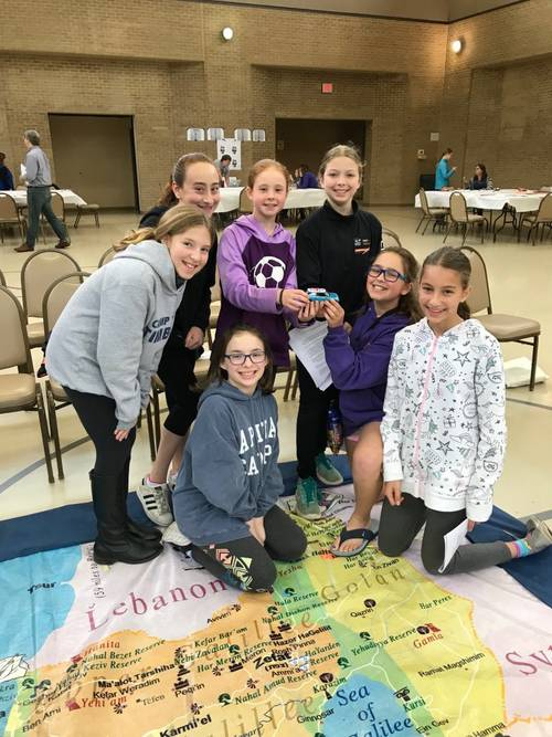 5th Grade Winning Team of the Great Israel Adventure Game
