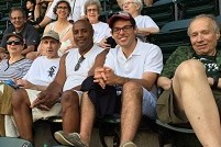 in the bleachers at a Sox game