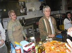 In the kitchen preparing for Tu Bishvat